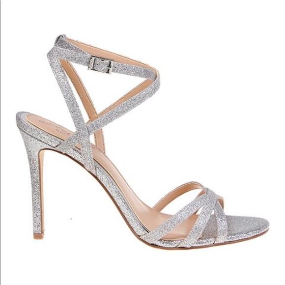 Silver Sparkly Sandal Heels
